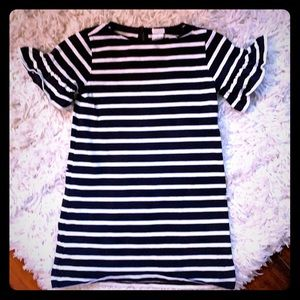 Navy and white striped crewcuts dress (6)